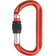 AustriAlpin Ovalo GI Screwgate Carabiner with Visual Safety Band Red anodized
